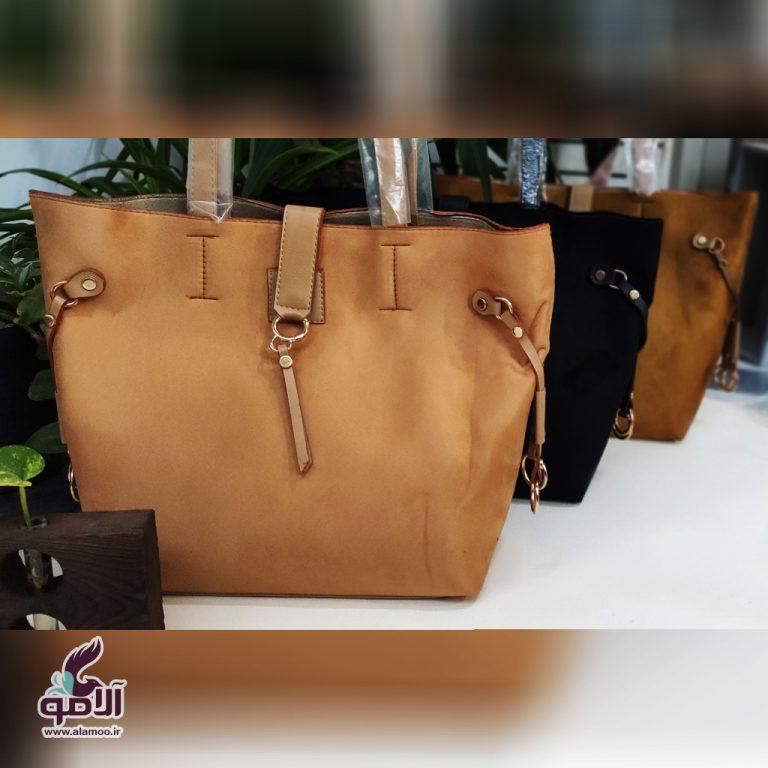 کیف دوشی زنانه کد B101 - بادامی سیر