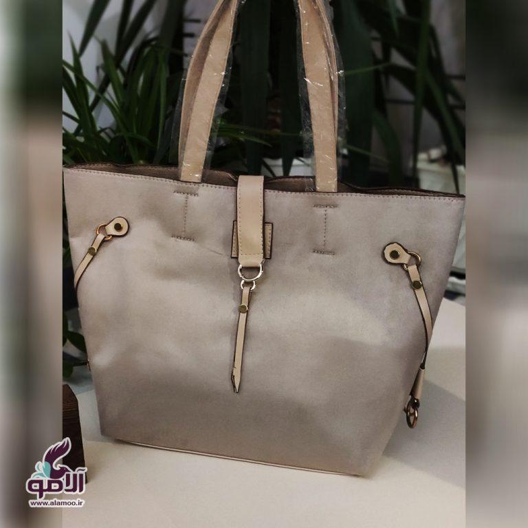 کیف دوشی زنانه کد B101 - نقره ای روشن
