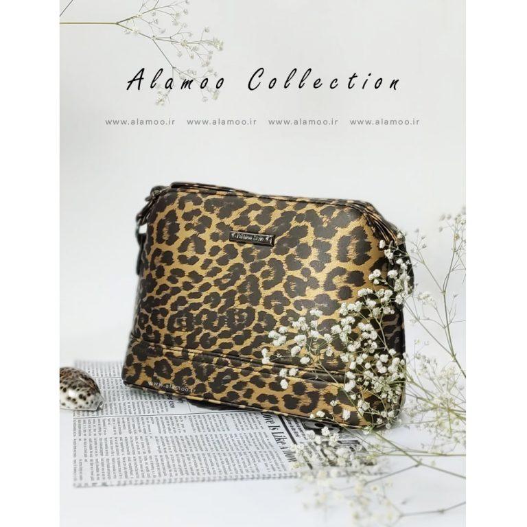 کیف دوشی زنانه مدل پلنگی کد B157